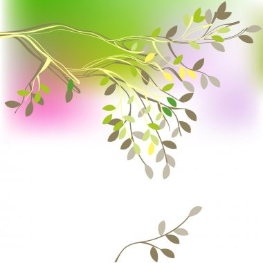 Background with spring branch