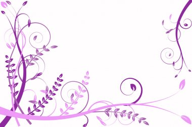 Lilac flower abstraction, pattern elegance curves stock vector