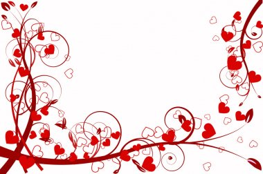 Heart love abstraction decorative pattern romance stylized sweetheart day valentine clip art vector