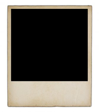 Old blank photo