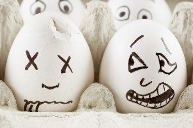Scared egg