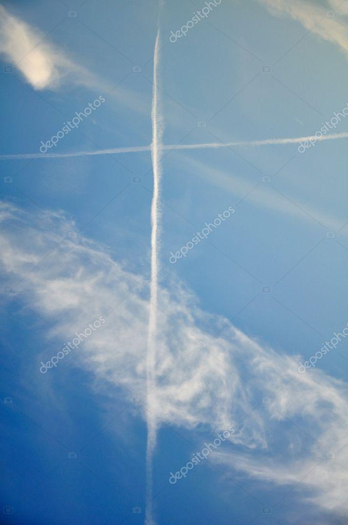 Cross on the blue sky