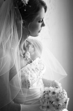 Beautiful adult woman on wedding