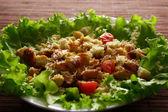 Fotografie Fresh green salad with chicken