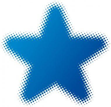 Star (dotted design series) clip art vector