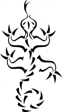 Lizard tattoo design template