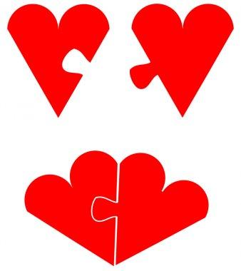 Love puzzle concept, couple