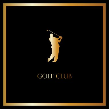 Vector golf club card, luxury