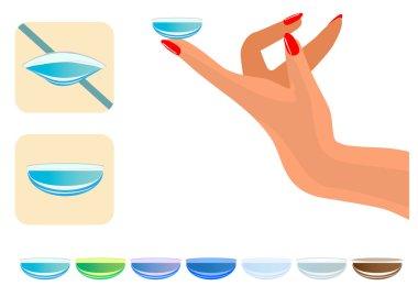 Medical illustration - Contact lenses