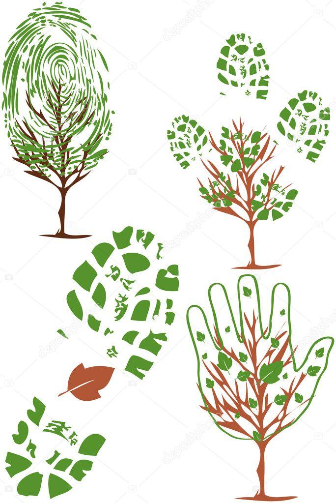 Vector-set of environmental icons