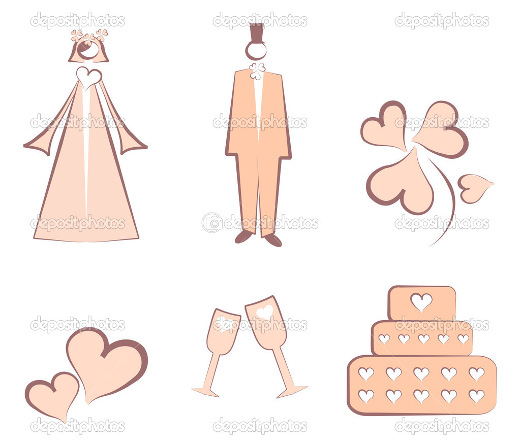 Isolated Wedding Decoration Logo Stock Vector C Realmcoy