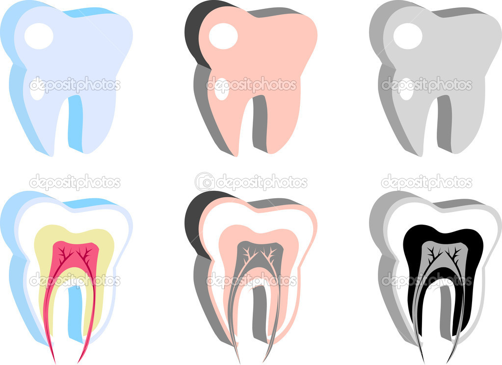 Medical Dental icons, tooth scheme