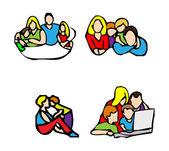 šťastný rodinný znak, příležitostné ikony