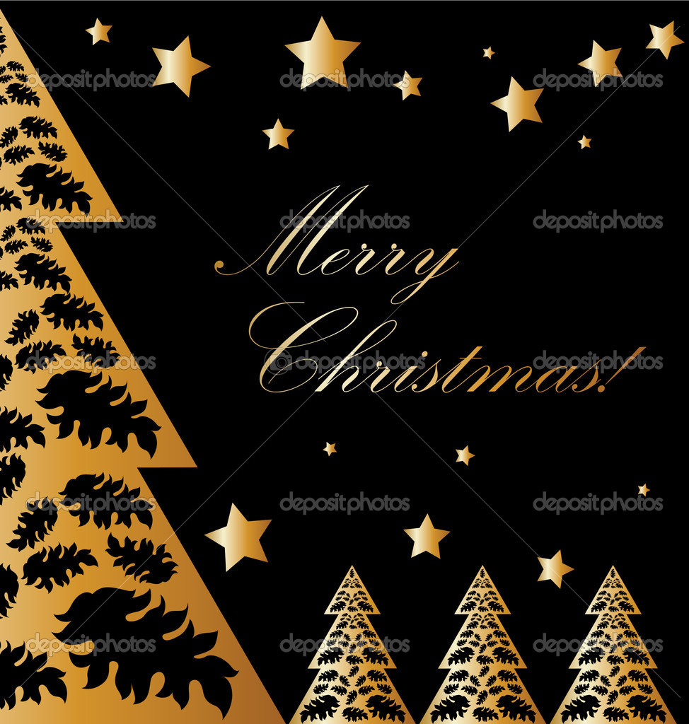gold und schwarze weihnachten stockfoto realmcoy 1997102. Black Bedroom Furniture Sets. Home Design Ideas