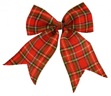 Red bow out of the Scottish material