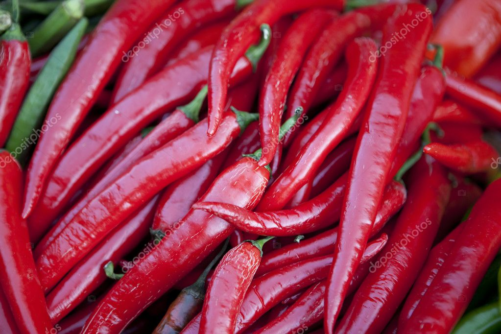 Hot Red peppers background