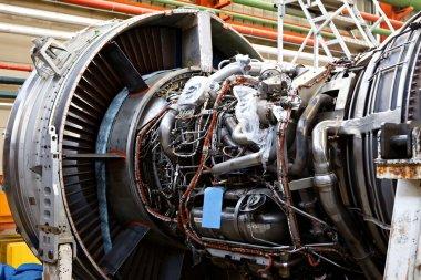 Aircraft maintenance, dismantled plane e