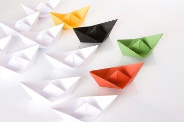 Winner green paper boat