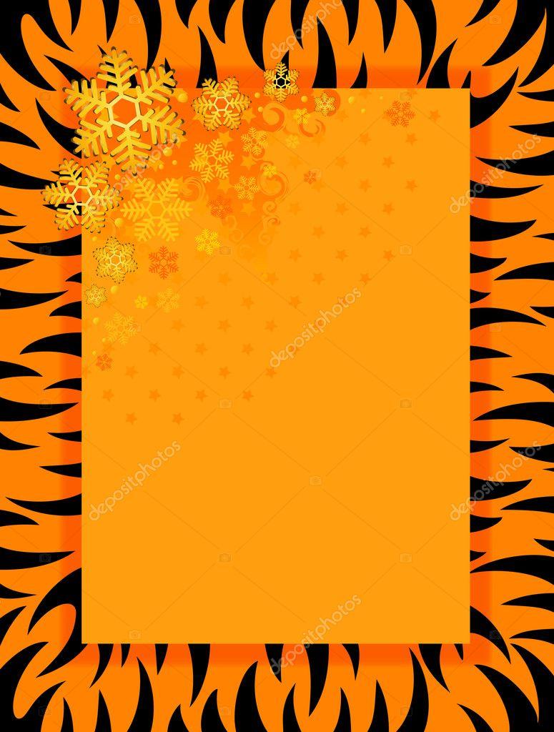 marco en estilo del tigre — Vector de stock © Forewer #1689258