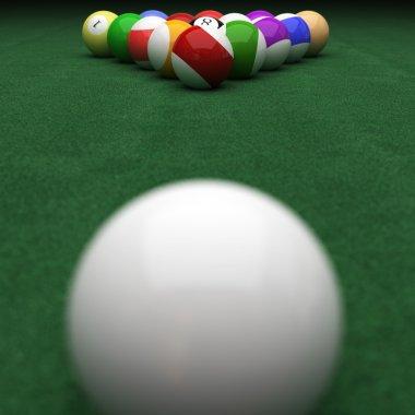 Targeting billiard balls on green