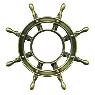 Bronze wheel , close-up photography