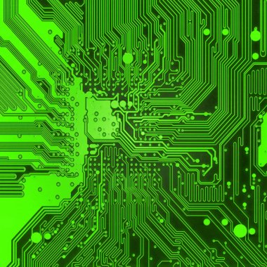 Green Electronic background texture