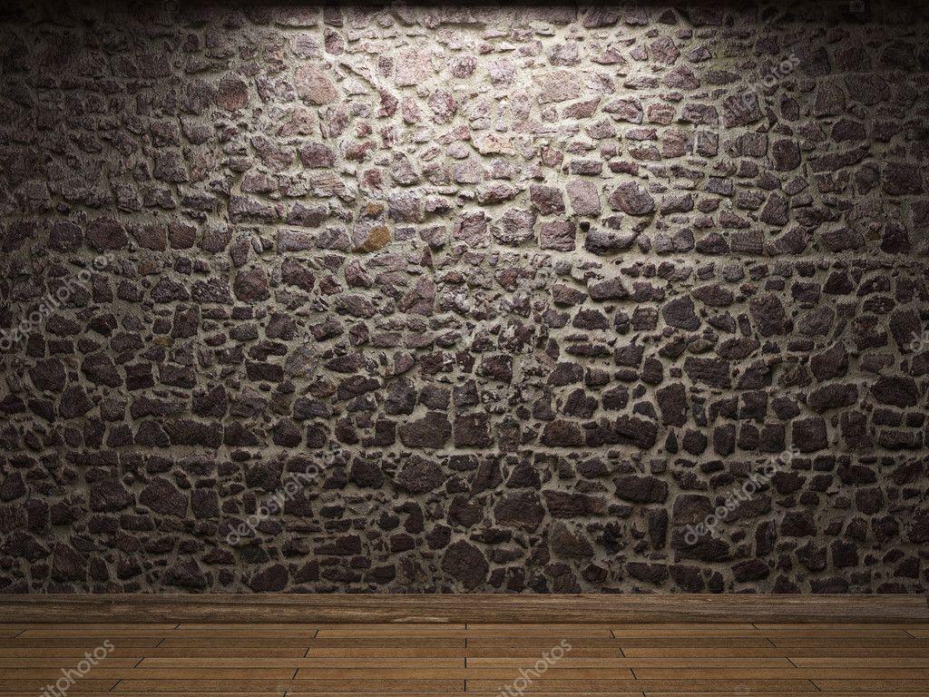 muro de piedra iluminada foto de stock - Muro De Piedra