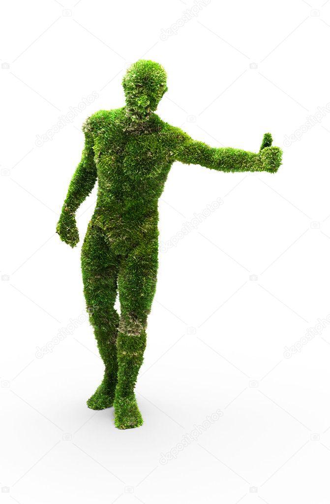 Herbal man