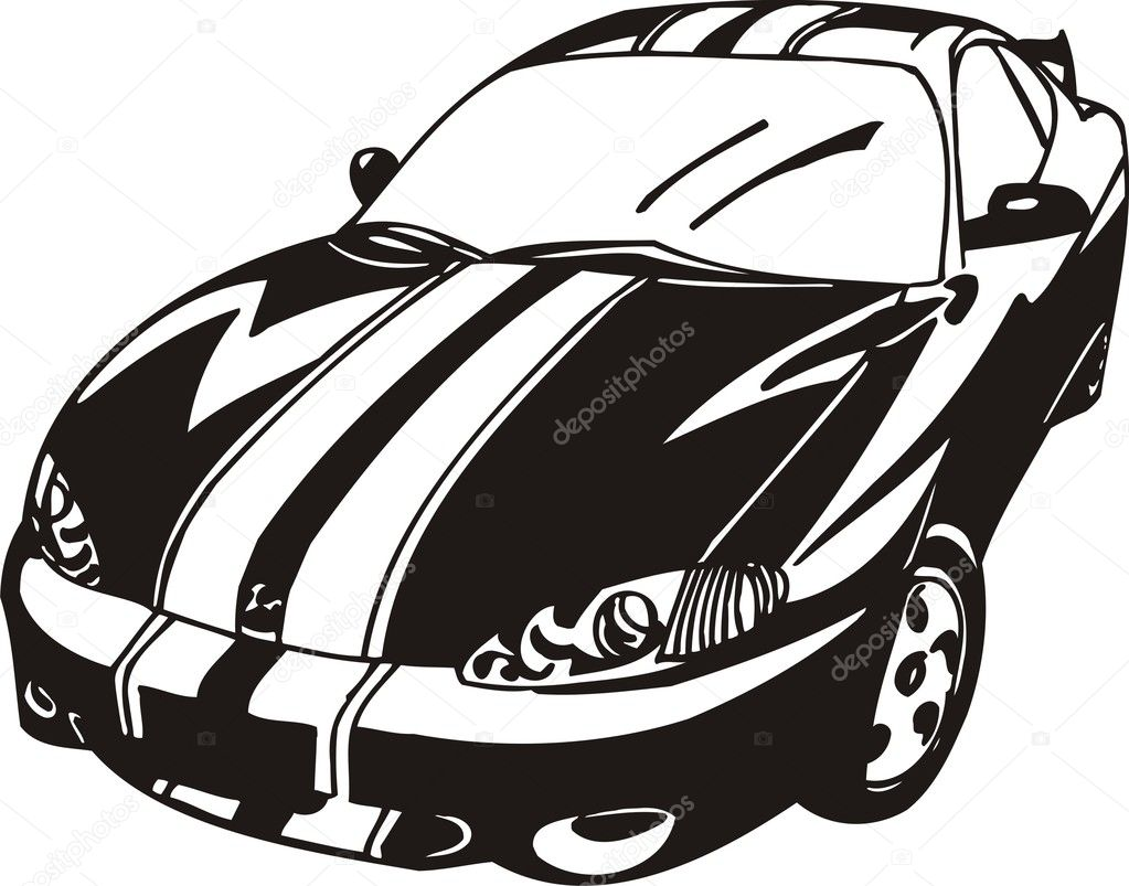black sports car clipart - photo #22