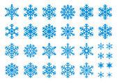 30 vektor hópelyhek beállítása
