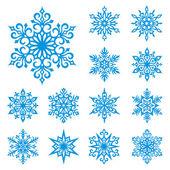 vektor hópelyhek készlet