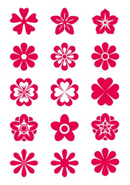 15 Flowers Silhouettes