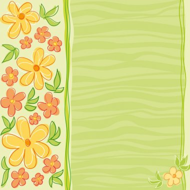 Flowers card design
