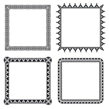 Geometric ornamental frames