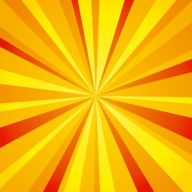 Bright rays background (orange)