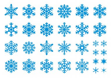 30 Vector Snowflakes Set