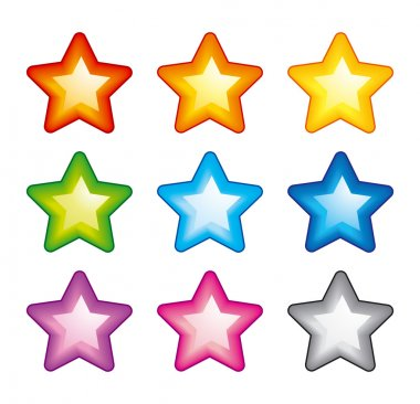 Vector rainbow stars