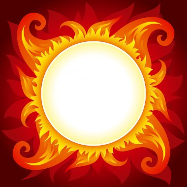 Fire or sun vector background