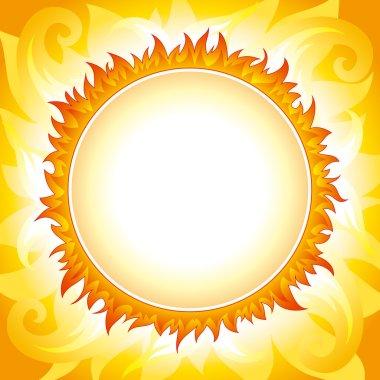 Decorative sun vector background