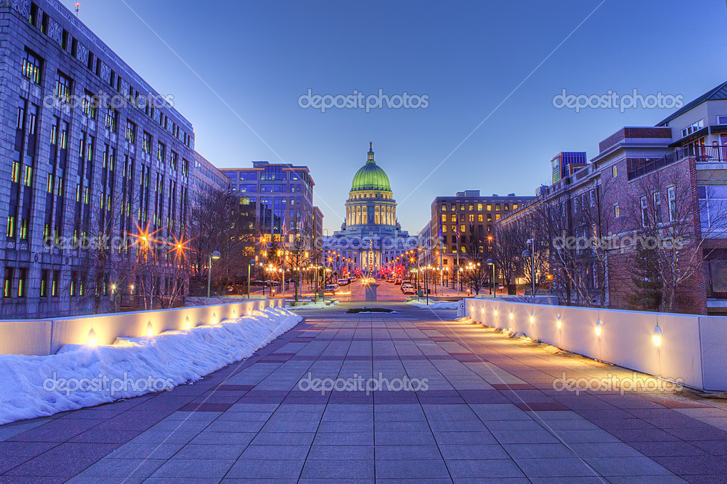 madison wisconsin skyline hdr stock photo ajalbert 2473298