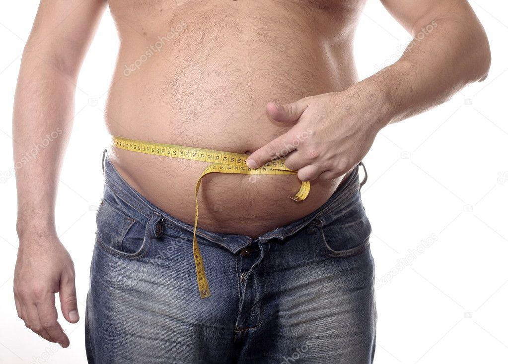 Fat Men with Measure — Stock Photo © zwolafasola #2674435