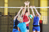 Photo Volleyball sport , girls playing