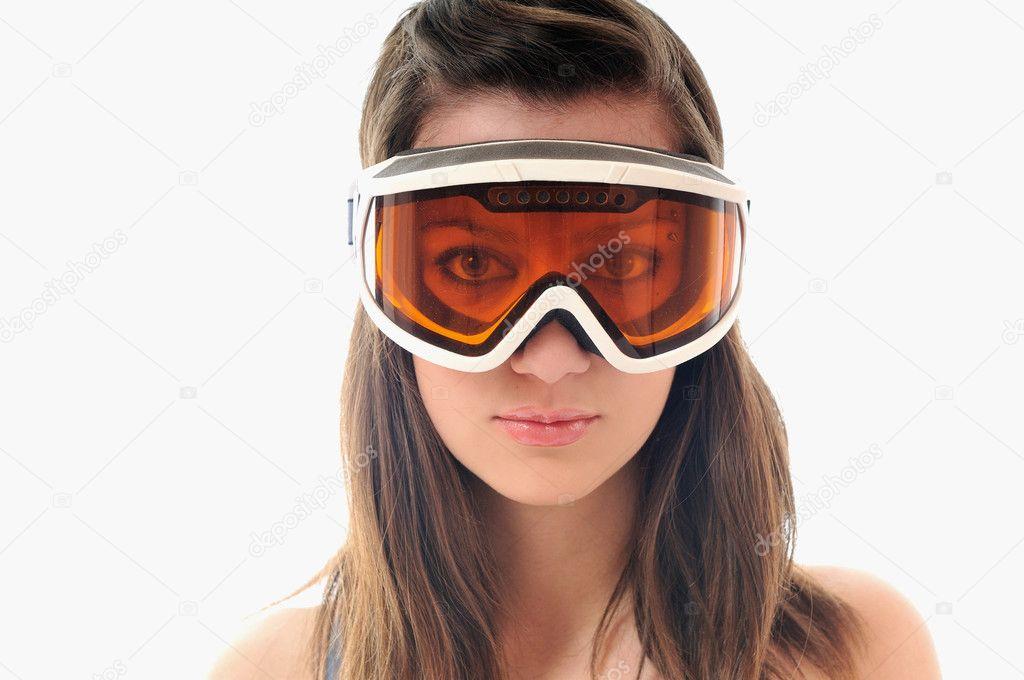 lunettes de ski femme photographie shock 1677588. Black Bedroom Furniture Sets. Home Design Ideas