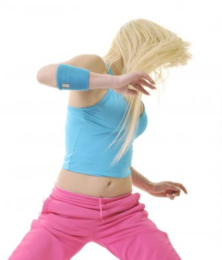 Woman fitness dance exercise