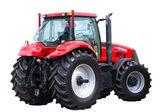 neuer roter Traktor