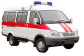 Rettungswagen isoliert