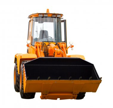 New yellow digger, isolated on white stock vector