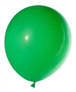 Swollen green balloon