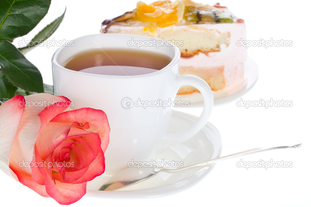 Rose tea and cake