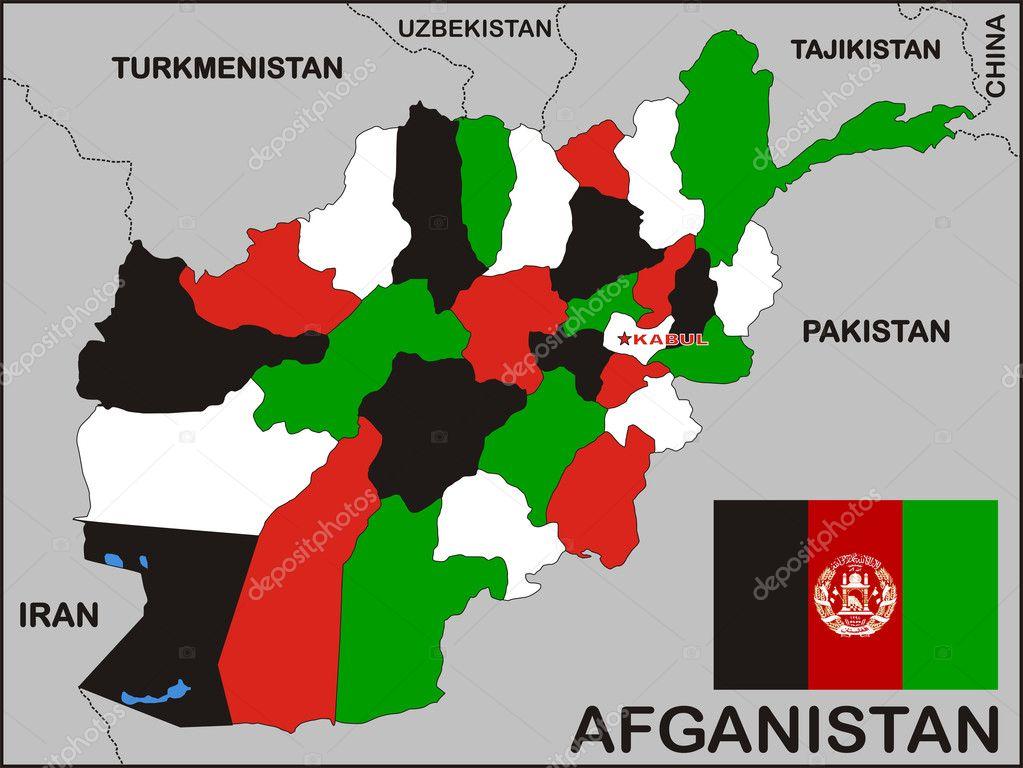Afghanistan Political Map Stock Photo C Tony4urban 1903675